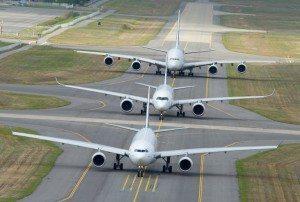 Airbus A330, A350 XWB og A380