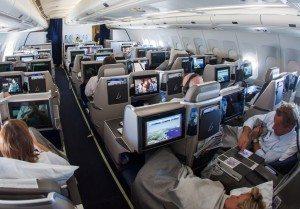 forretningsrejsende brussels airlines business class kabine