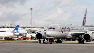 qatar airways B787 i københavns lufthavn