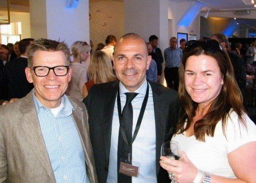 Fra venstre Spies-direktør, Jan Vendelbo, Brøchner Hotels' direktør, Karim Nielsen, og Susanne Nordenbæk, chefkonsulent i Dansk Erhvervs afdeling for bl.a. hoteller.
