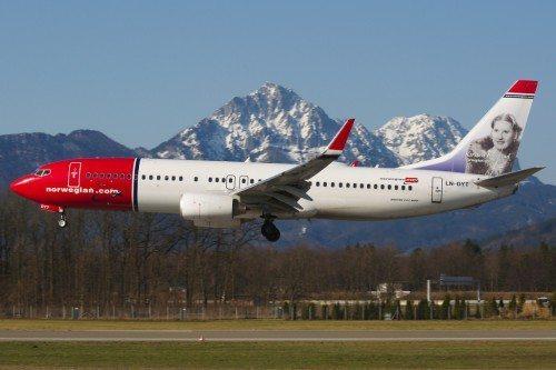 Norwegian B737-800 i Salzburg