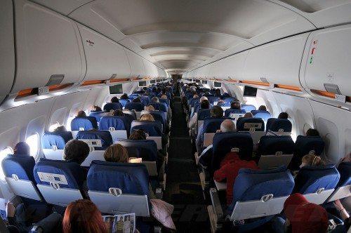 flypassagerer kabine