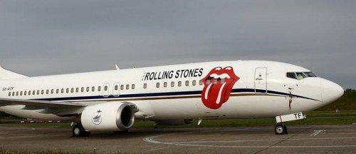 Rolling Stones' fly landede i går i Københavns Lufthavn – foto: Arne V. Petersen.