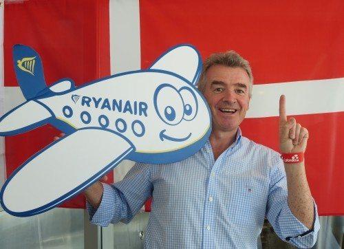 ryanair, michael o'leary billund lufthavn