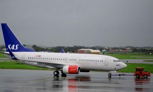 PrivatAir-flyet i SAS' bemaling.