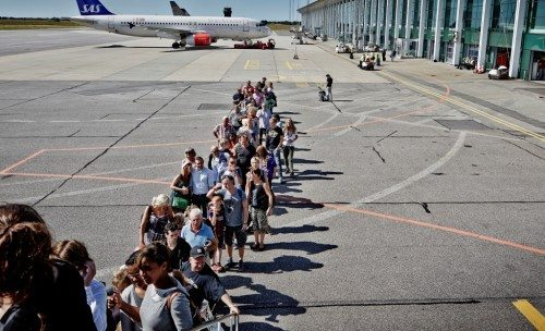 aalborg lufthavn, fly passagerer