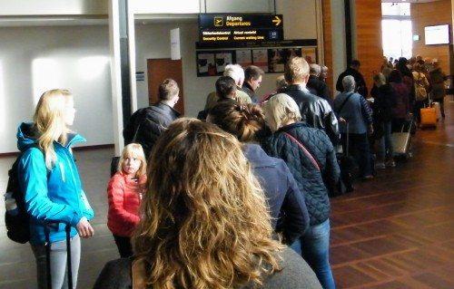 københavns lufthavn, ventetid, passagerer, sikkerhedskontrol