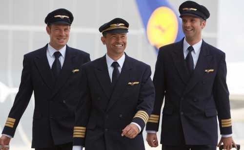 Piloter fra Lufthansa, arkivfoto.