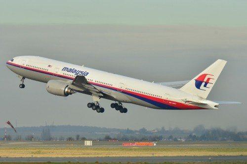 MH370-flyet, der forsvandt, Malaysia Airlines-flyet fotograferet tidligere.