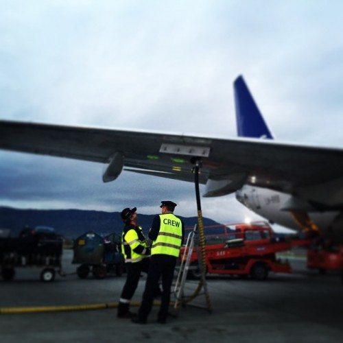 sas brændstof fly lufthavn