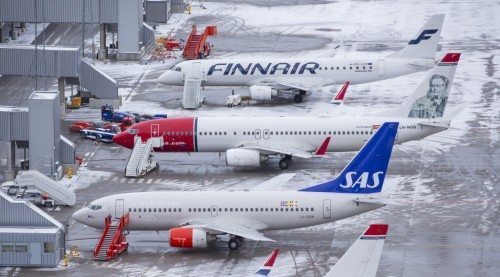 oslo lufthavn gardermoen fly sas norwegian finnair