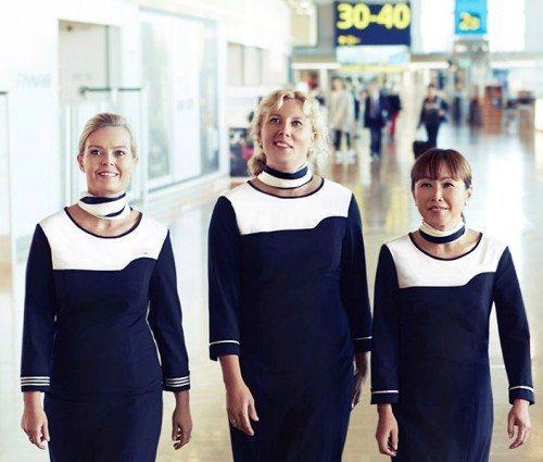 Finnair personale lufthavn kabine