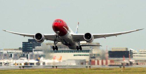 Norwegian B787 dreamliner lufthavn