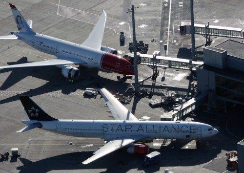 oslo lufthavn norwegian og sas