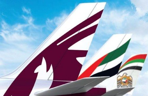 MEB3 qatar airways, emirates og etihad