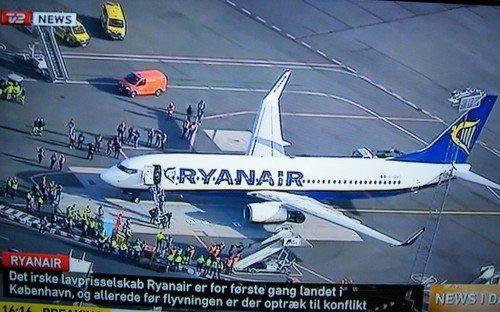 ryanair første fly i københavns lufthavn