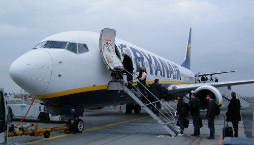 Ryanair forleden i Københavns Lufthavn inden flyvning til Dublin.
