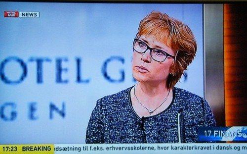 Arp-Hansens koncernchef, Dorte Krak, var i går på TV2 News for bl.a. at fortælle om kædens nye hotel og flotte årsregnskab.