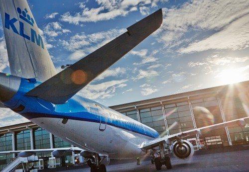 KLM er største udenrigsselskab i Aalborg Lufthavn.