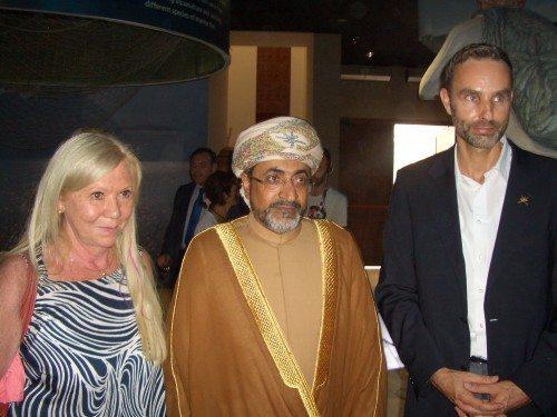 Fra venstre Karin Zwiers, direktør for Interface, der repræsenterer Sultanatet Omans turistministerium,  H.E. Mr Ahmed bin Nasser Al Mahrizi, turistminister i Oman og Ralf Schepers, Interface.