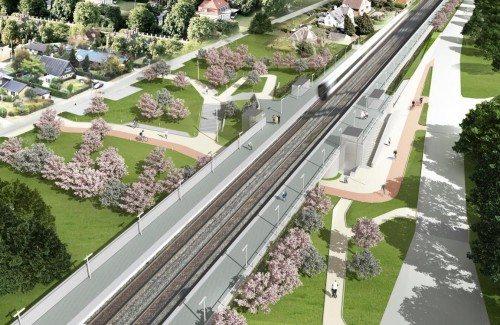 Langeskov Station byggepladsskilt uden blur_0
