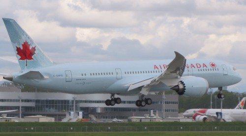 air canada boeing b787 dreamliner fly lufthavn