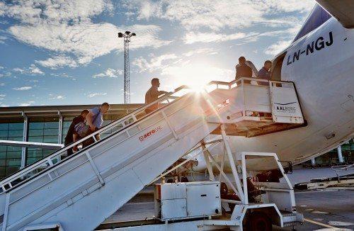 aalborg lufthavn fly passagerer