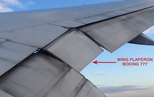 Boeing 777 Wing Flaperon Malaysia Airlines MH 370