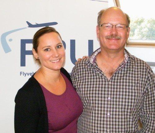 FPU's formand, Thilde Waast, og formand for 3F i Kastrup, Henrik Bay-Clausen, ved mødet i denne uge.