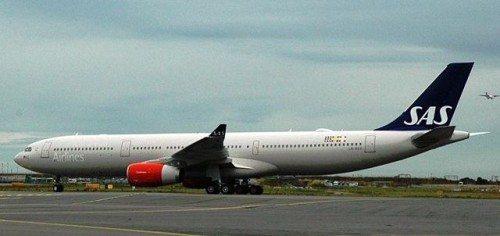 SAS første Airbus A330 Enhanced, Tore Viking, landede i går i Københavns Lufthavn direkte fra flyfabrikken i Toulouse. Foto: SAS.