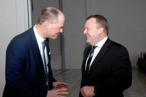 Adm. direktør i BC Hospitality Group Allan Agerholm og statsminister Lars Løkke Rasmussen ved en tidligere lejlighed. Foto: Preben Pathuel.