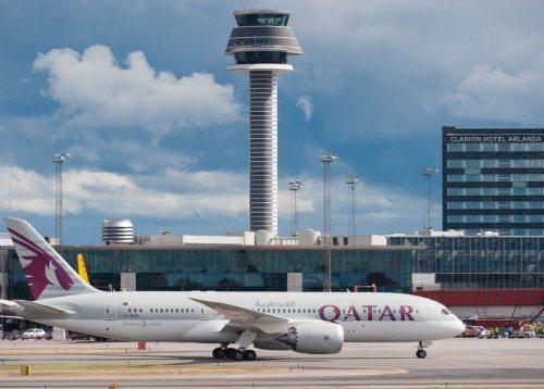 qatar airways, stockholm arlanda fly lufthavn, dreamliner