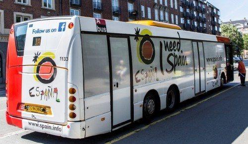 spansk turistbus i københavn
