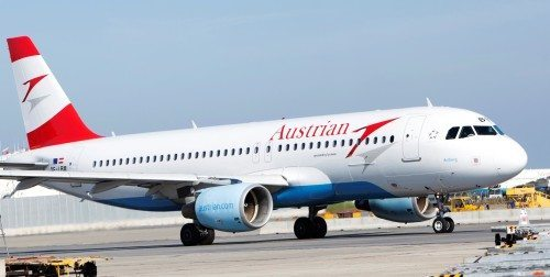 Austrian Airlines airbus a320 fly lufthavn