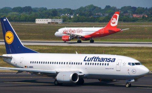 Lufthansa B737-300 Düsseldorf lufthavn air berlin