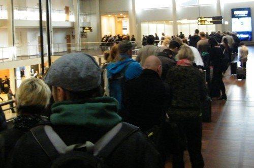 københavns lufthavn ventetid sikkerhedskontrol oktober 2015