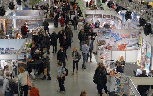 Fra dette års første feriemesse i Forum i København – foto: Preben Pathuel.