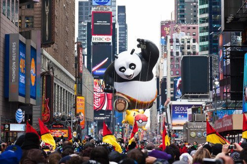 Macy's traditionelle thanksgiving parade.
