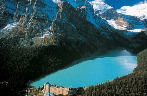 Lake Louise i det vestlige Canada.