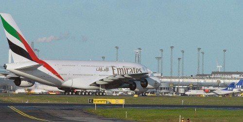 Emirates A380 fly københavns lufthavn
