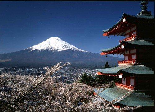 MtFuji-pagoda japan