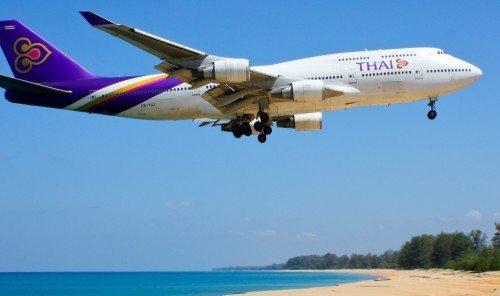 Thai Airways B747-400 Phuket fly