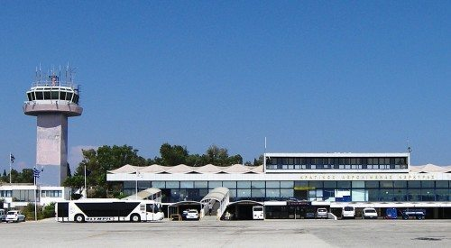 Lufthavnen på Korfu.