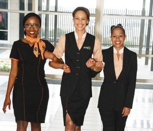 Ansatte fra det sydafrikanske flyselskab Mango, der indenfor et års tid får øget samarbejde med Star Alliance.
