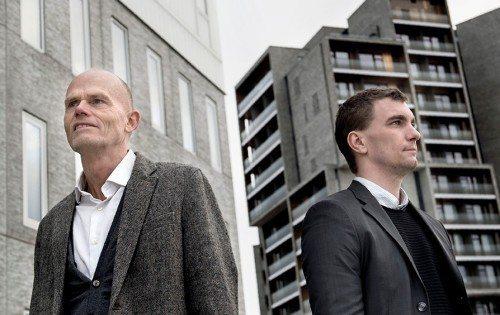 Ejer af ICS – International Conference Services – Per Ankær, til venstre, med sin mand i Odense, Andre Fog Jensen.