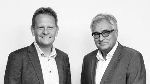 Viceadm. direktør i VisitDenmark, Lars Erik Jønsson, til venstre, forlader VisitDenmark – her med adm. direktør, Jan Olsen.