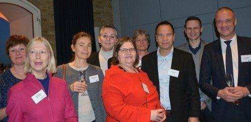 Et udsnit af ANTOR-medlemmerne i Danmark under nytårskuren i går. Stig Sommerfeldt Kaspersen er nummer tre fra højre. Foto: Preben Pathuel.