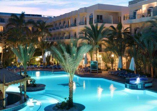 Bella Vista Resort-hoteller i egyptiske Hurghada, der i weekend blev angrebet af mulige terrorister.