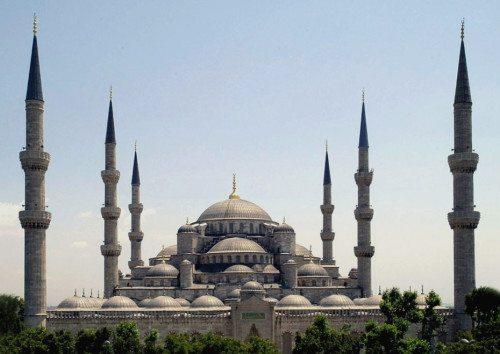 Bombeeksplosionen i går skete på Sultan Ahmet Pladsen i Istanbul.