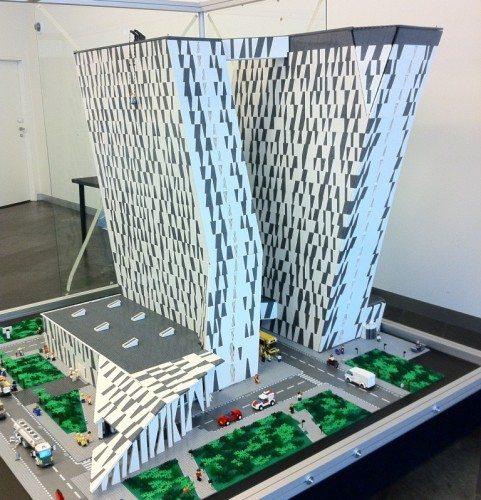 bella sky hotel lego model